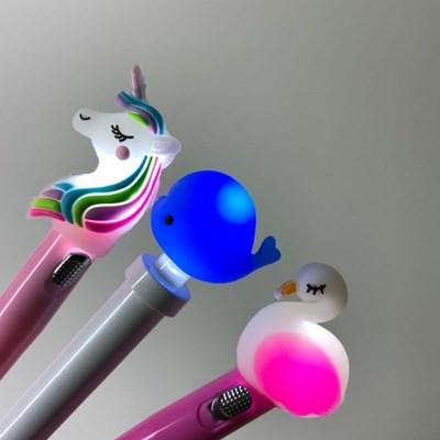 [맙소사잡화점] LED 동물 젤펜
