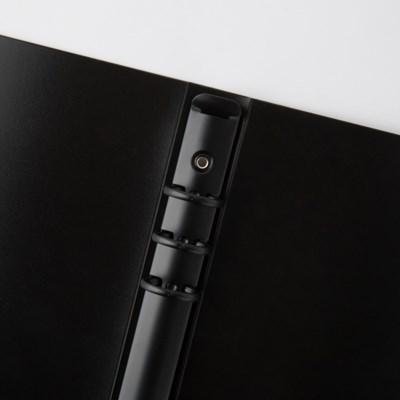 [텐텐문방구] A5  블랙 하드커버 블랙 바인더 (6공 다이어리용)