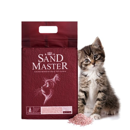 샌드마스터 크랙형 고양이 두부모래 복숭아 2.8kg(7L)