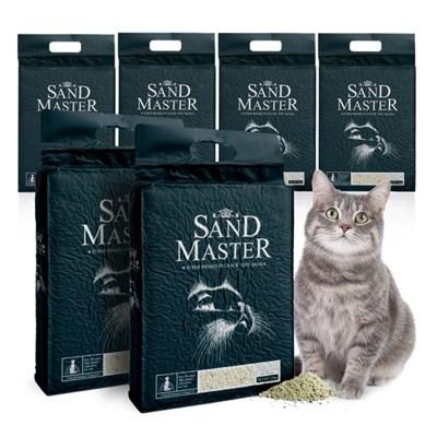 샌드마스터 크랙형 고양이 두부모래 녹차 2.8kg 6개