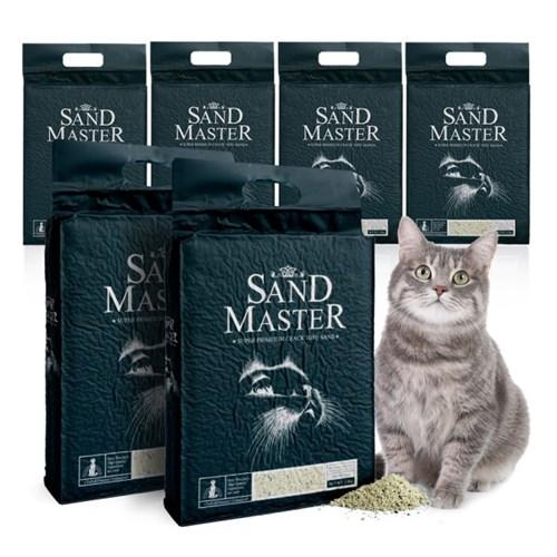 샌드마스터 크랙 고양이 두부모래 녹차 2.8kg x 6개_(789543)