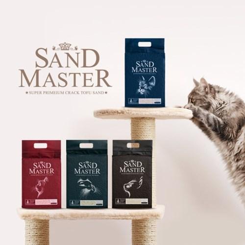 샌드마스터 크랙 고양이 두부모래 2.8kg x 6개 삽증정
