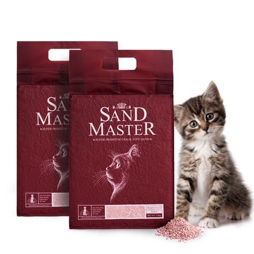 샌드마스터 고양이 두부모래 복숭아 2.8kg x 2개_(789560)