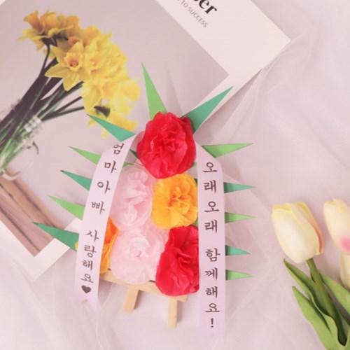 카네이션 미니화환 만들기 패키지 DIY (5인)