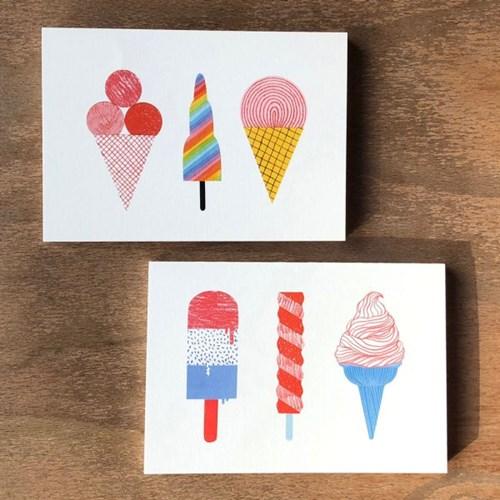 아이스크림 엽서노트