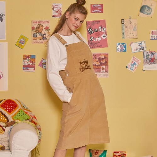 LZ OVERALL SKIRT(BEIGE)_(4063276)