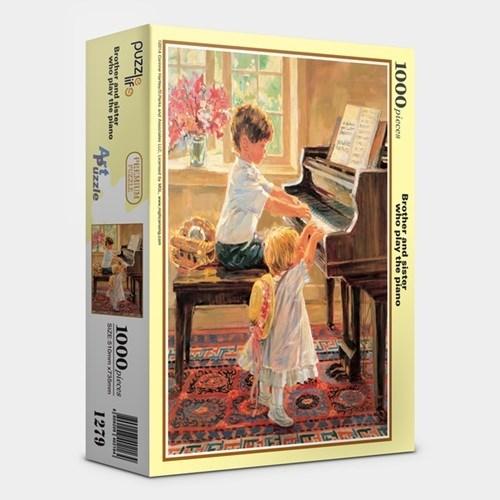 직소퍼즐 1000피스 피아노치는 남매  PL1279