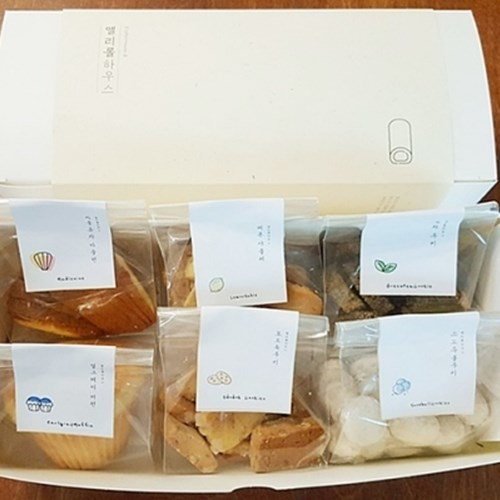 [앨리롤하우스] 프랑스양과자 수제쿠키 6종세트