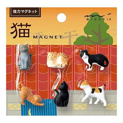 MINI MAGNET (6pcs) - 고양이