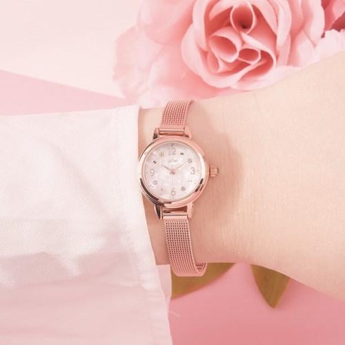 [디자인시계] 꽃밭 여성 메쉬시계_해바라기 (AG2G8407MAPY)