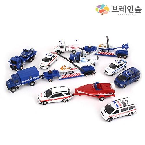 [브레인숲] 교육용교통학습세트C_병원_경찰17종_(2113919)
