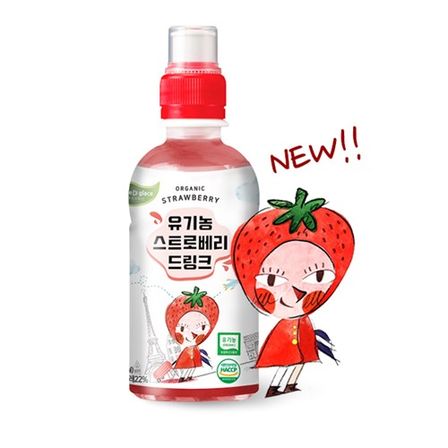 떼르드글라스 유기농 딸기 주스 220ml 빨아먹는 음료수
