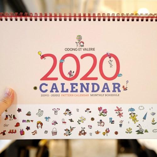 오동에발레리 2020캘린더 XL