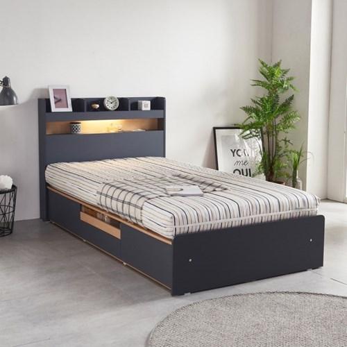 라노체 유럽라텍스 알렉스 LED 서랍형 침대 슈퍼싱글