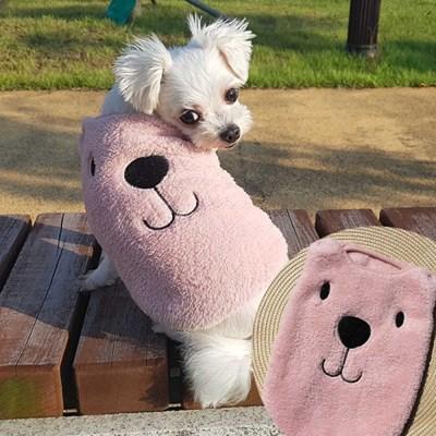 스마일 곰돌이수면조끼 애견수면조끼 강아지겨울옷 애견잠옷