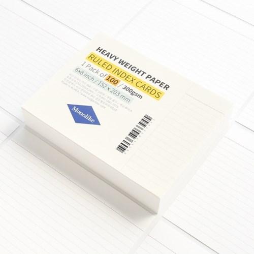 룰드 인덱스카드 화이트 100매 - 6x8