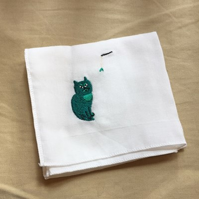 [Organic cotton] Green cat
