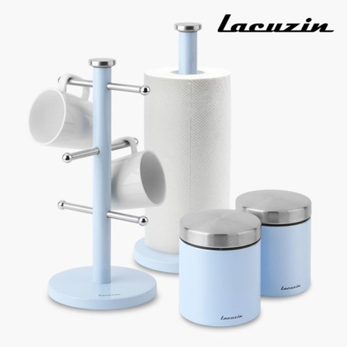 라쿠진 카운터탑 스토리지 4종세트 블루 LCZW1499BL