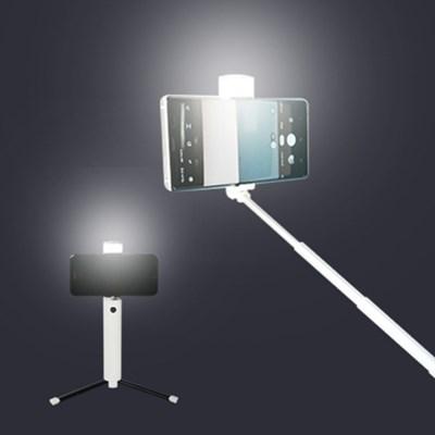 피넛 블링 LED 조명 블루투스 삼각대 셀카봉 LED 밝기조절