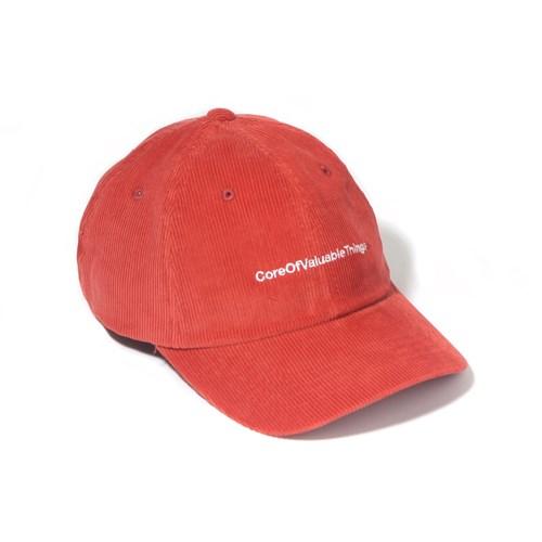 CORDUROY CORE CURVED CAP-ORANGE