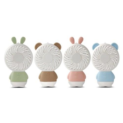 토끼 곰 미니선풍기 USB LED 휴대용 선풍기_(1426391)