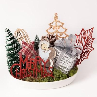 우드 산타 타원수반 23cmP 트리 크리스마스 TRFAHM_(1507515)