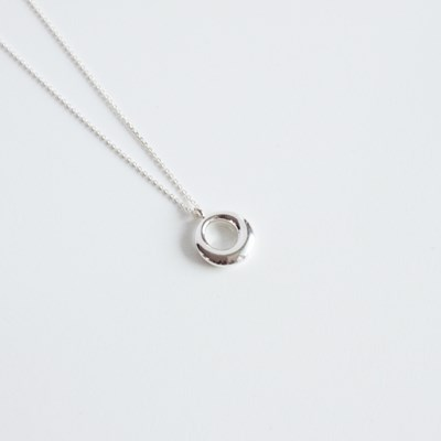 Silver bold ring necklace(실버 볼드 링 목걸이)[92.5 silver]