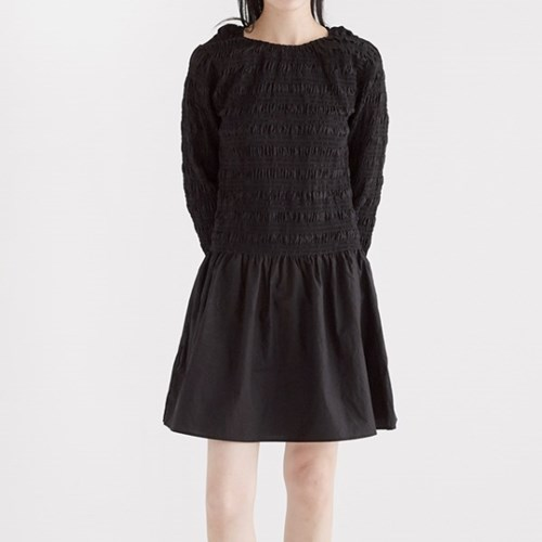 simple shirring mini dress (2colors)_(1352668)