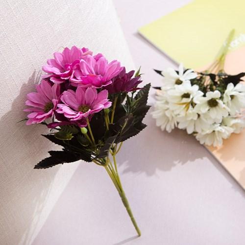 뉴엔틱데이지부쉬 28cm FAIAFT 조화 꽃 인테리어소품_(1511178)
