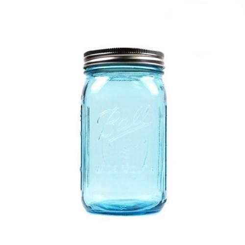 와이드마우스 블루 943ml 32oz Blue jar