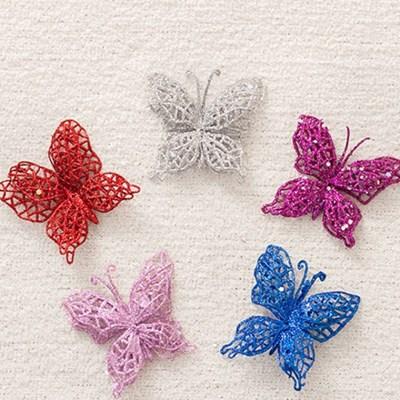나비9cm(2개입) 트리 크리스마스 장식 소품 TROMCG_(1420482)