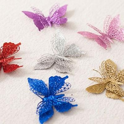 나비 12cm(2PCS) 트리 크리스마스 장식 소품 TROMCG_(1420481)