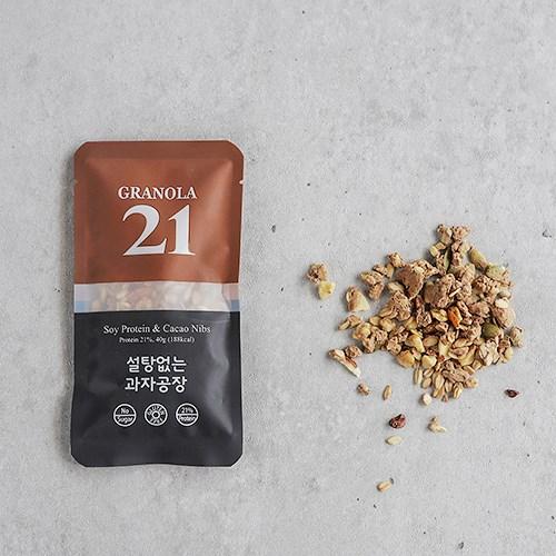 [그래놀라21] 무설탕 프로틴 그래놀라_카카오닙스 10팩