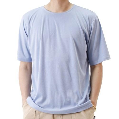 (UNISEX) Basic Color Short Sleeve T (SKY BLUE)