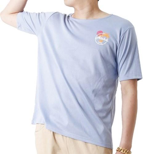 Aloha Hawaii Summer Short Sleeve T (SKY BLUE)_(1410704)