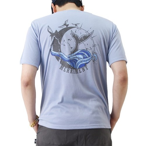 (UNISEX) Waves by Whales Short Sleeve T (SKY BLUE)_(1410702)