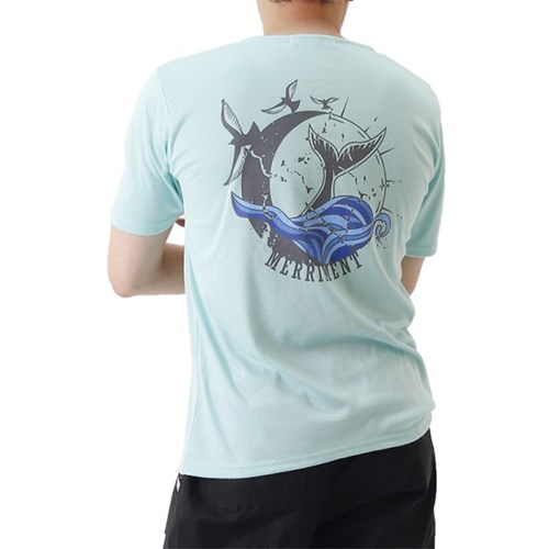 (UNISEX) Waves by Whales Short Sleeve T (MINT)_(1410701)