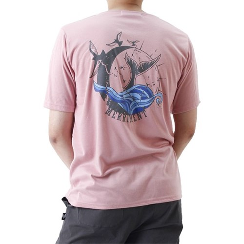 (UNISEX) Waves by Whales Short Sleeve T (PINK)_(1410700)