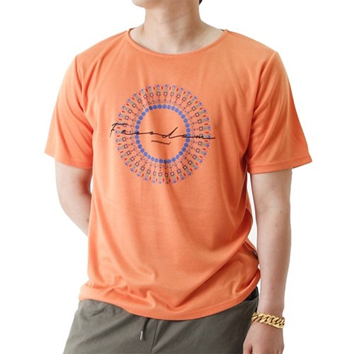 (UNISEX) Feel Freedom Short Sleeve T (ORANGE)_(1410698)