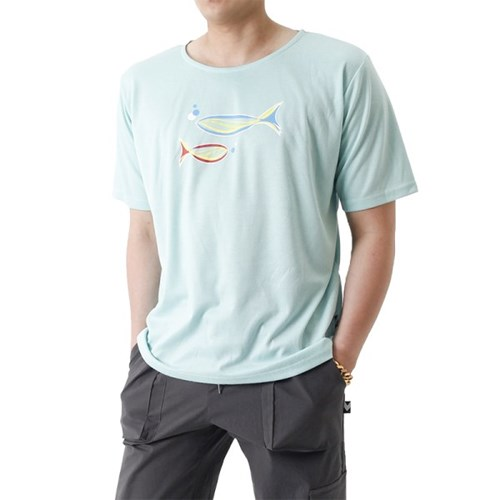 (UNISEX) Grand Casting the Fish Short Sleeve T (MINT)