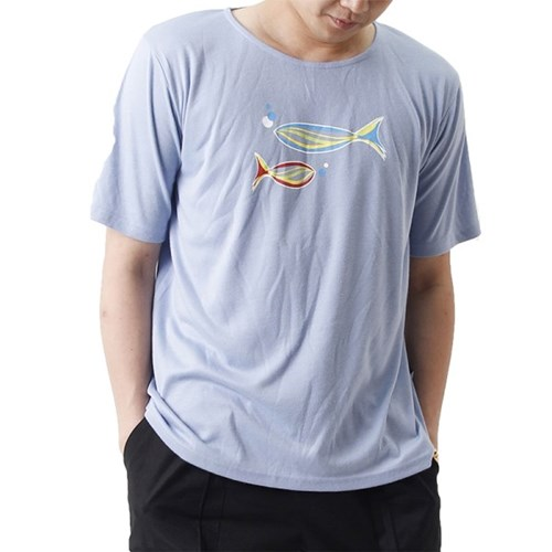 Grand Casting the Fish Short Sleeve T (SKY BLUE)_(1410694)