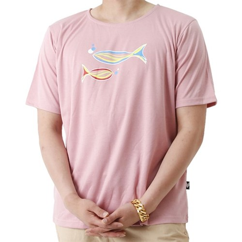 Grand Casting the Fish Short Sleeve T (PINK)_(1410693)