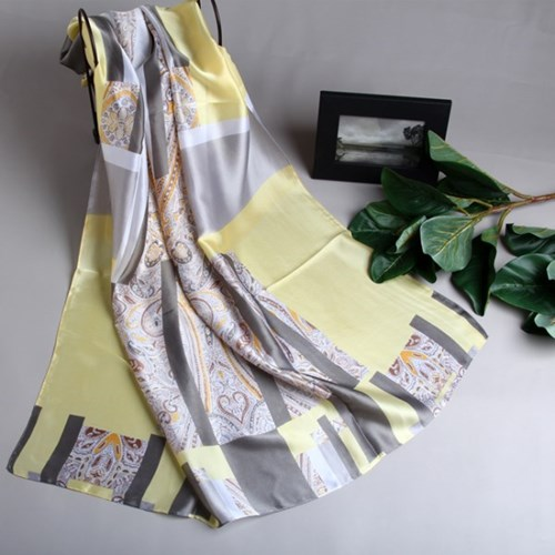 [더로라]실키 스카프- 실키 크림페이즐리 S9074-10