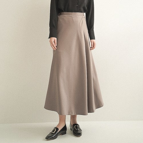 Amy Satin Wrap Skirt_Brown_(17058)