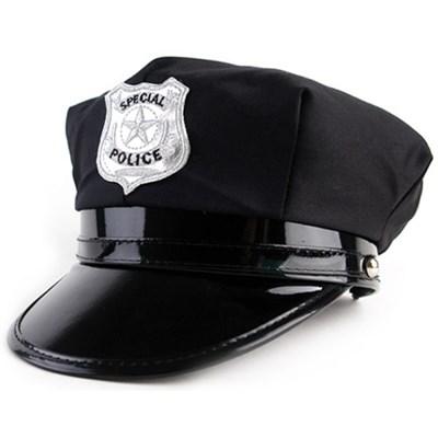 경찰모자 블랙