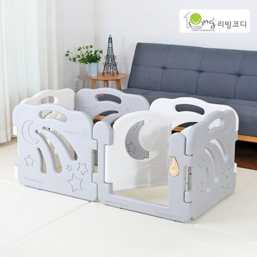 콤마아이 베이비룸 6p 그레이(문포함) 아기안전펜스
