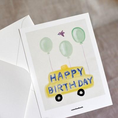 [카멜앤오아시스] Happy Birthday 생일 일러스트 엽서