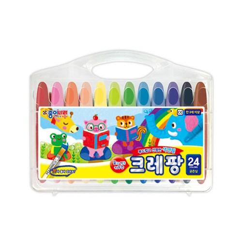 종이나라 13000 크레팡 24색 굵은심 색연필 크레파스_(1859740)