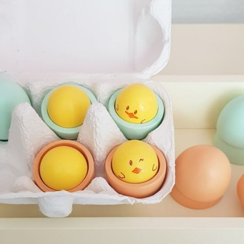 맘앤리틀 소나무 원목 달걀놀이 주방놀이 장난감