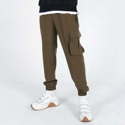 (UNISEX)Premium M Royal Cargo-Jogger Pants(OLIVE)
